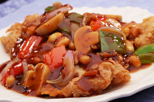 Fish Fillet with Kung Pao Pasta Sauce