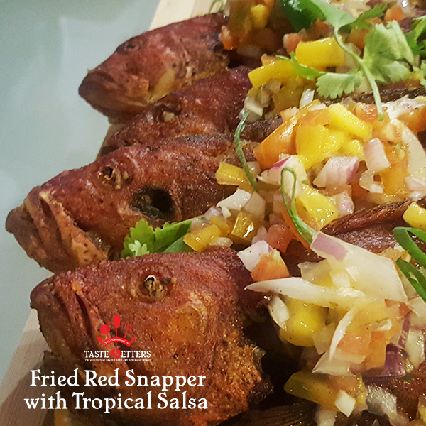 Fried Red Snapper with Tropical Salsa