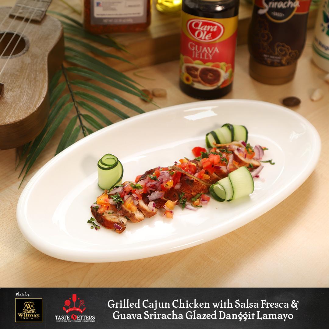 Grilled Cajun Chicken with Salsa Fresca Guava Sriracha Glazed Danggit Lamayo