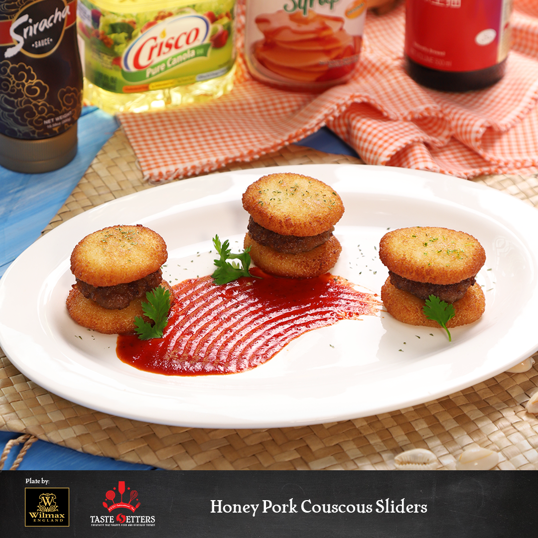 Honey Pork Couscous Sliders