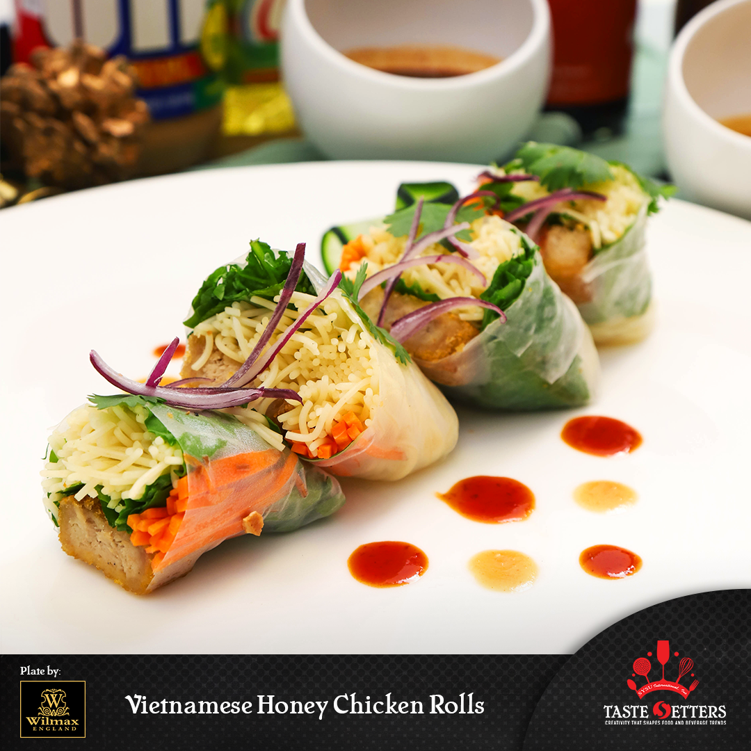 Vietnamese Honey Chicken Rolls